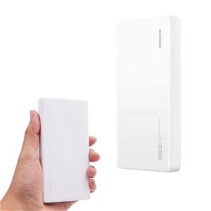 Original Huawei PowerBank 40W 12.000mAH m. 1 x USB-C & USB-A - Hvid