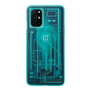Originalt OnePlus 8T Cover Quantum Bumper Case - Cyborg Cyan