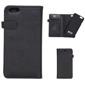 GEAR iPhone SE / 5 /5s Buffalo Wallet Læder Cover m. Pung Sort