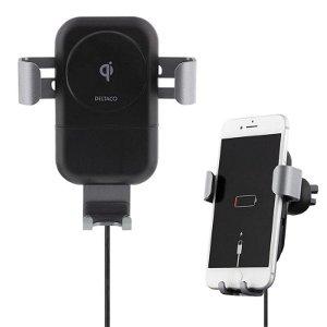 Deltaco Fast Wireless Car Charger m. Bilholder - Sort