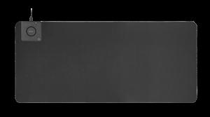 Deltaco Office XL Musemåtte m. Trådløs Oplader 90 x 40 cm - Sort