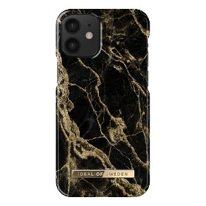 iDeal Of Sweden iPhone 12 Mini Fashion Case Golden Smoke Marble