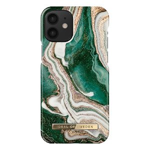 iDeal Of Sweden iPhone 12 Mini Fashion Case Golden Jade Marble