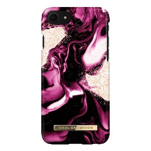 iDeal Of Sweden iPhone SE (2020) / 8 / 7 Fashion Case Golden Ruby Marble