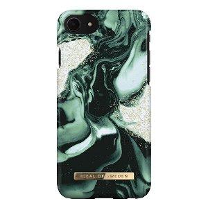 iDeal Of Sweden iPhone SE (2020) / 8 / 7 Fashion Case Golden Olive Marble