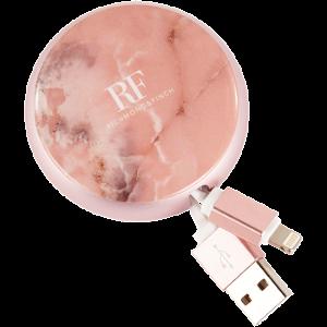 Richmond & Finch Cable Winder Lightning til USB Pink Marble