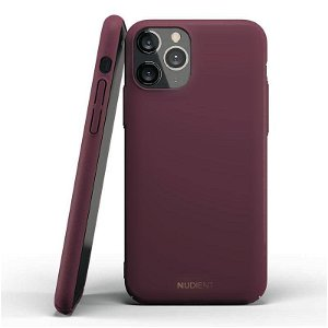 Nudient Thin Case V2 iPhone 11 Pro Cover - Sangria Red