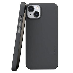 Nudient Thin Case V3 iPhone 13 Bagside Cover - Stone Grey