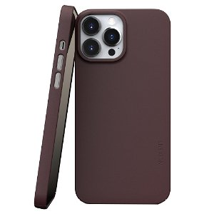 Nudient Thin Case V3 iPhone 13 Pro Max Bagside Cover - Sangria Red
