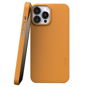 Nudient Thin Case V3 iPhone 13 Pro Max Bagside Cover - Saffron Yellow