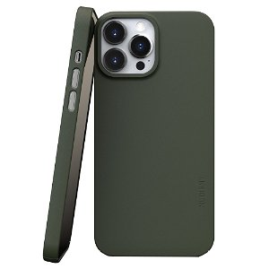 Nudient Thin Case V3 iPhone 13 Pro Max Bagside Cover - Pine Green