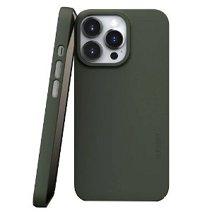 Nudient Thin Case V3 iPhone 13 Pro Bagside Cover - Pine Green