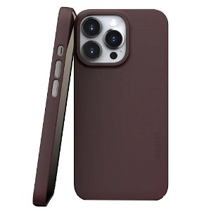 Nudient Thin Case V3 iPhone 13 Pro Bagside Cover - Sangria Red