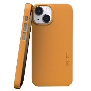 Nudient Thin Case V3 iPhone 13 Mini Bagside Cover - Saffron Yellow