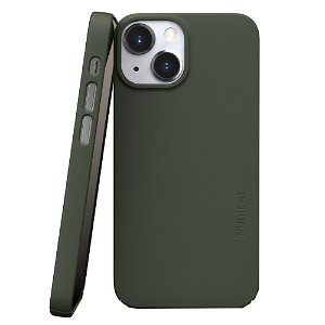 Nudient Thin Case V3 iPhone 13 Mini Bagside Cover - Pine Green