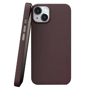 Nudient Thin Case V3 iPhone 13 Bagside Cover - Sangria Red