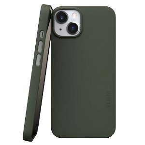 Nudient Thin Case V3 iPhone 13 Bagside Cover - Pine Green