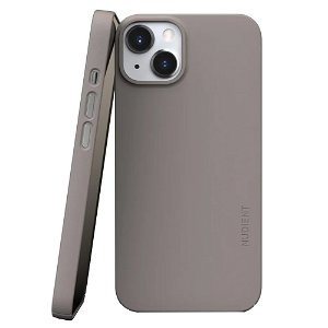 Nudient Thin Case V3 iPhone 13 Bagside Cover - Clay Beige