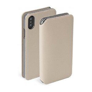 Krusell Pixbo 4 Card FolioCase iPhone Xr Læder Flip Cover - Beige