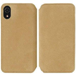 Krusell Broby Slim Wallet iPhone Xr Ruskind Flip Cover - Beige