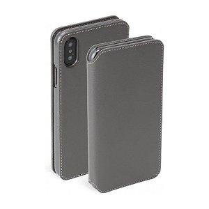 Krusell Pixbo 4 Card FolioCase iPhone Xs Max Læder Flip Cover - Grå