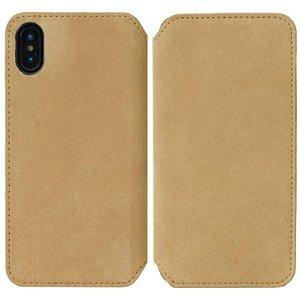 Krusell Broby Slim Wallet iPhone XS Max Ruskind Flip Cover - Beige