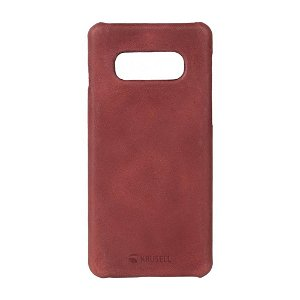 Krusell Sunne Cover Samsung Galaxy S10e Læder Cover - Rød