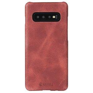Krusell Sunne Cover Samsung Galaxy S10 Læder Cover - Rød