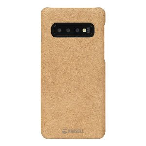 Krusell Broby Samsung Galaxy S10 Ruskind Cover - Beige