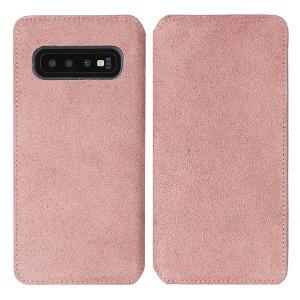 Krusell Broby Slim Wallet Samsung Galaxy S10+ (Plus) Ruskind Flip Cover - Pink