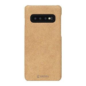 Krusell Broby Samsung Galaxy S10+ (Plus) Læder Cover - Cognac