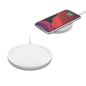 Belkin Boost Up Charge Qi Wireless Charging Pad 15W - Trådløs Oplader m. Opladerkabel - Hvid