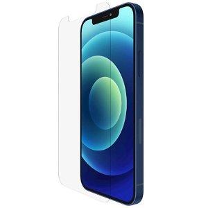 iPhone 12 / 12 Pro Belkin TemperedGlass Anti-Microbial Hærdet Glas - Case Friendly - Gennemsigtig