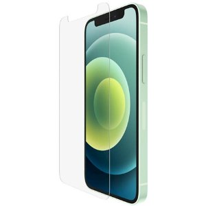 iPhone 12 Mini Belkin UltraGlass Anti-Microbial Hærdet Glas - Case Friendly - Gennemsigtig