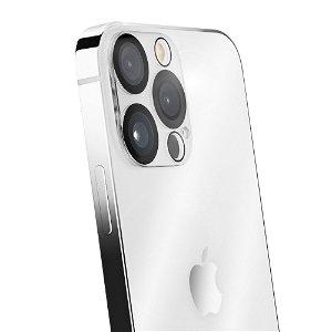 iPhone 13 Pro Max QDOS OptiGuard Kameralinse Beskyttelsesglas - Gennemsigtig / Sort Kant