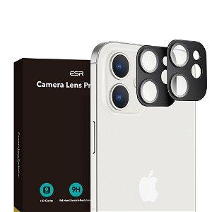 iPhone 12 ESR Beskyttelsesglas til Kameralinse - 2-pak - Sort