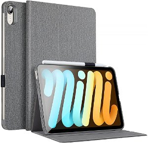 ESR iPad Mini (2021) Urban Premium Folio Flip Cover - Grå
