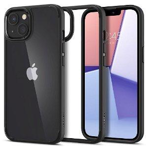 iPhone 13 Spigen Ultra Hybrid Bagside Cover - Gennemsigtig / Sort