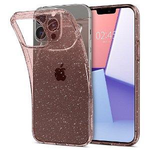 Spigen iPhone 13 Pro Max Liquid Crystal Glitter Cover - Rose
