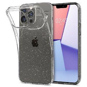 Spigen iPhone 13 Pro Max Liquid Crystal Glitter Cover - Gennemsigtig