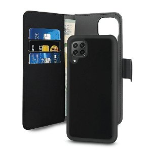 Huawei P40 Lite Detachable 2 in 1 PURO Eco-Leather Cover m. Pung Sort