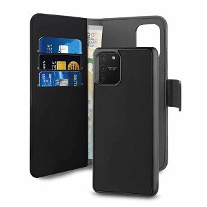 Samsung Galaxy S10 Lite Puro Detachable 2 In 1 Læder Cover m. Pung Sort