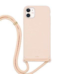 iPhone 11 Puro Icon Cross Body Silikone Cover - Rosa