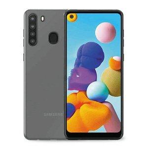 """Samsung Galaxy A21 Puro """"NUDE"""" Ultra Slim Cover 0.3 mm. Gennemsigtig"""