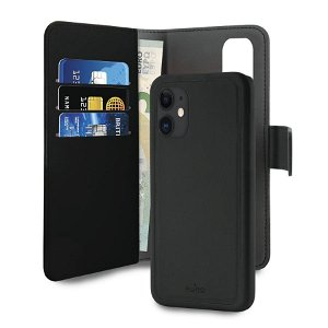 iPhone 12 Mini Puro Cover Wallet Detachable 2-In-1 Sort