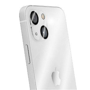 iPhone 13 Mini QDOS OptiGuard Kameralinse Beskyttelsesglas - Gennemsigtig / Sort Kant