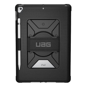 "iPad 10.2"" (2021 / 2020 / 2019) Urban Armor Gear - UAG - Metropolis Series Military Case m. Håndholder - Sort"