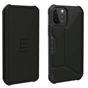 iPhone 12 Pro / 12 Læder Flip Cover UAG METROPOLIS - Black