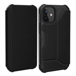 iPhone 12 / 12 Pro UAG METROPOLIS Series Folio Cover - Kevlar Black - Sort