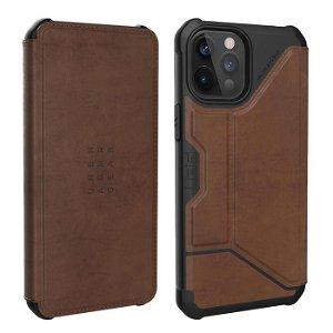 iPhone 12 Pro Max UAG METROPOLIS Series Folio Læder Cover - Brown - Brun